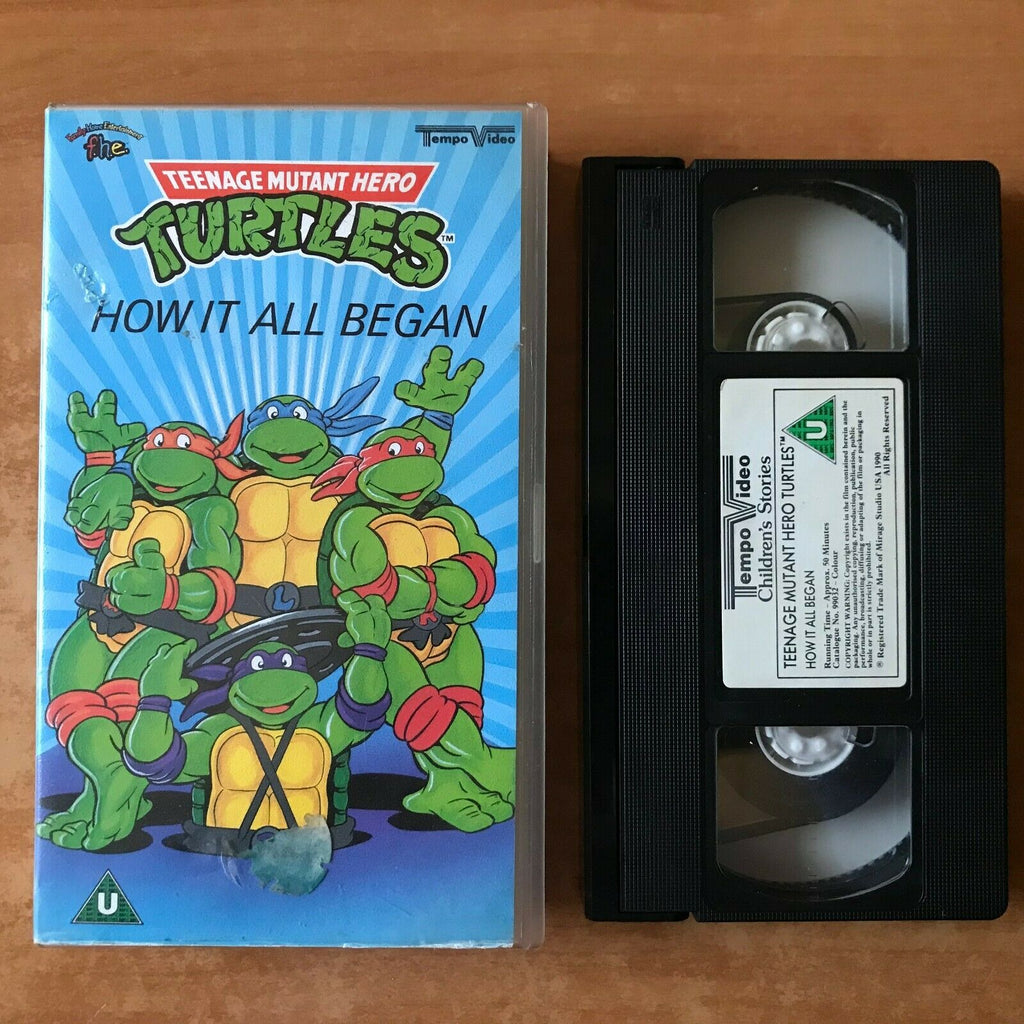Teenage Mutant Hero Turtles: How It All Began [Tempo Video] Children's - Pal VHS