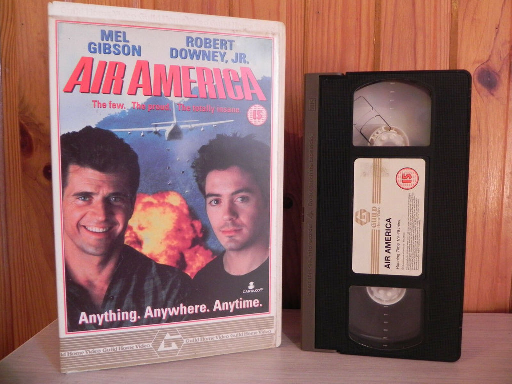 AIR AMERICA - Mel Gibson / Robert Downey Jr - Action - Big Box - Ex-Rental - VHS