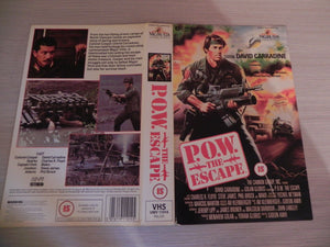 P.O.W. The Escape (Double Sleeve) Action [Large Box] Rental - David Carradine - Pal VHS