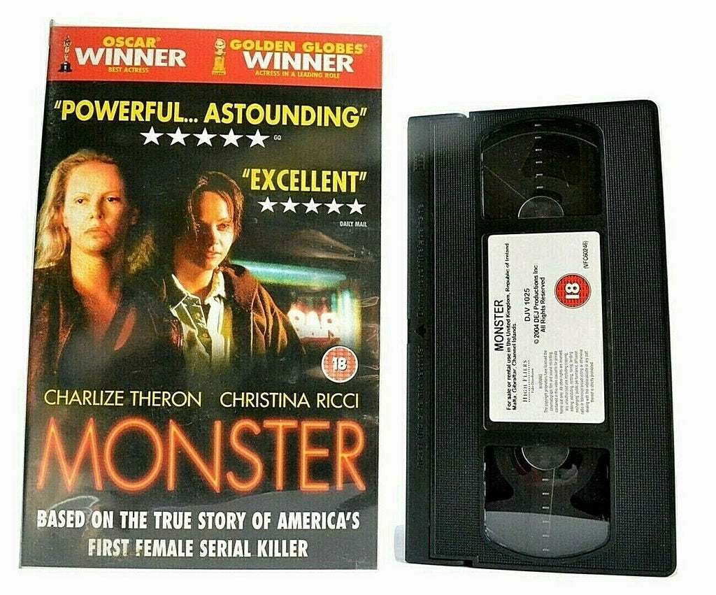 Monster: Biographical Crime Drama -[Aileen Wuornos]- Charlize Theron - Pal VHS