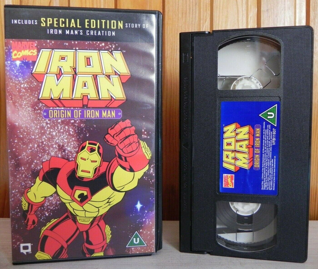 Iron Man: Origin Of Iron Man - Special Edition - Action - Animated - Kids - VHS