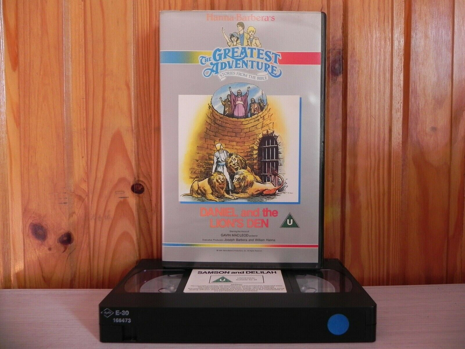 Stories From The Bible [Hanna Barbera]: Daniel & The Lions Den - Large Box - Pal VHS