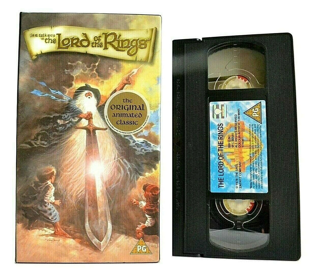 The Lord Of The Rings -<J.R.R. Tolkien>- Animated Fantasy - Carton Box - Pal VHS