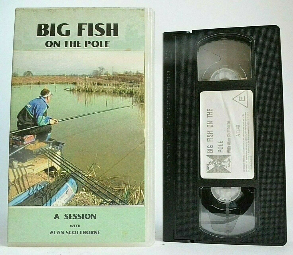 Big Fish On The Pole [Alan Scotthorne] - Fishing - Carp - Woodlands View - VHS