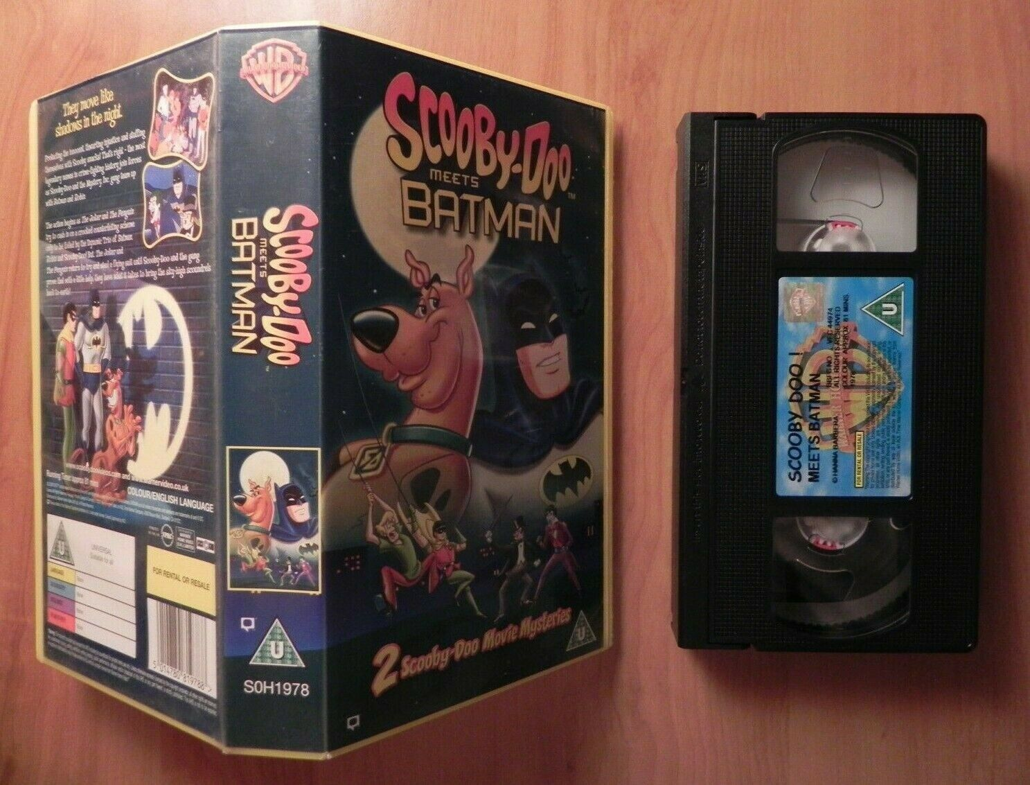 Scooby-Doo Meets Batman (2002) - Mystery Animation - Children's - Pal VHS