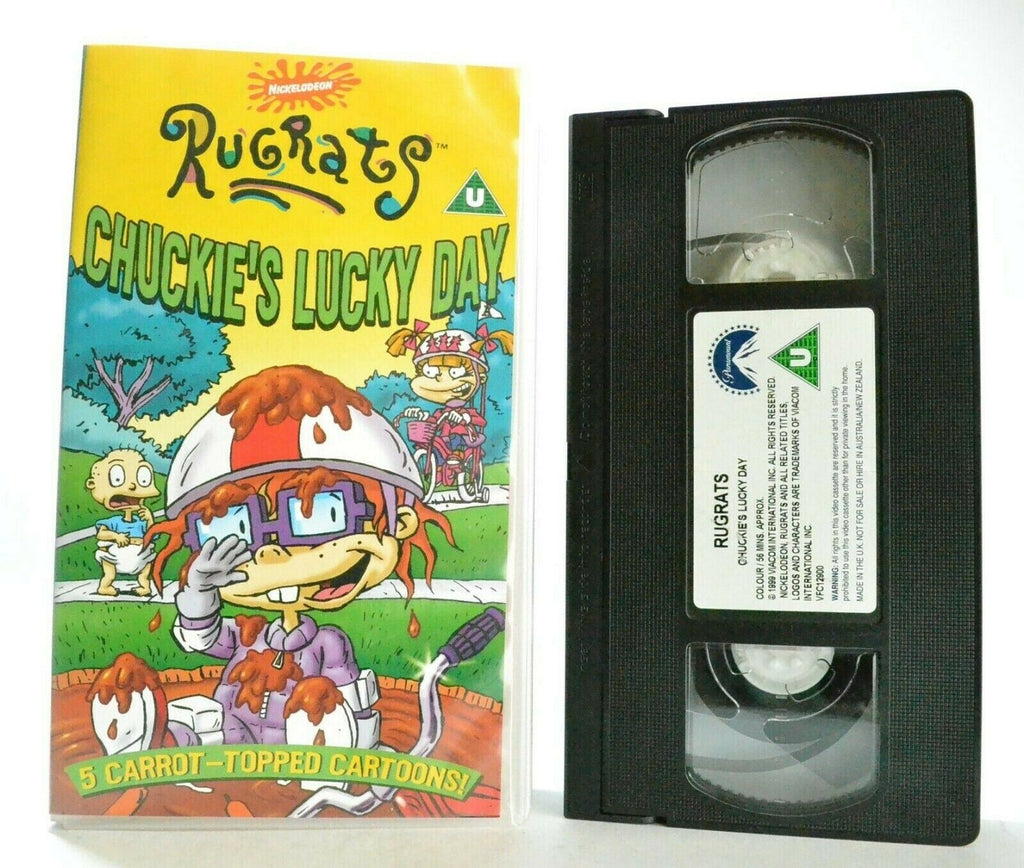 Rugrats: Chuckie's Lucky Day - 5 Episodes - Animated Adventures - Kids - Pal VHS