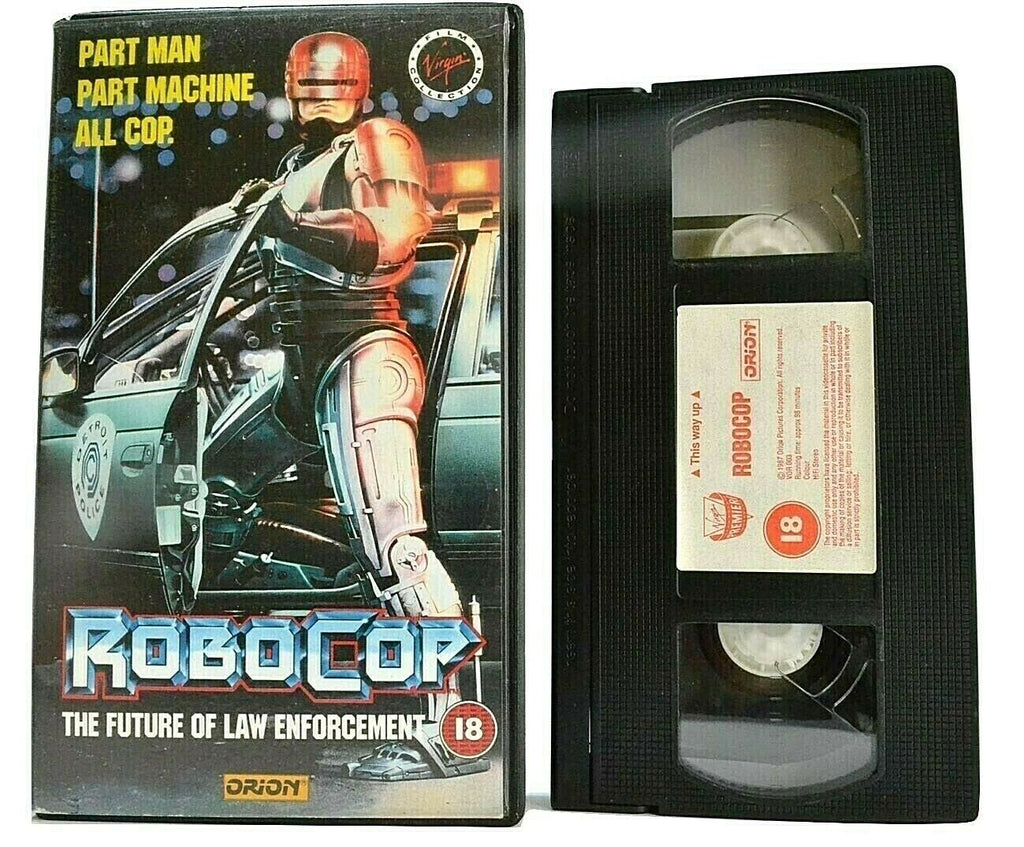 Robocop: Half Man/Half Machine Superhero - Sci-Fi Action - Peter Weller - VHS