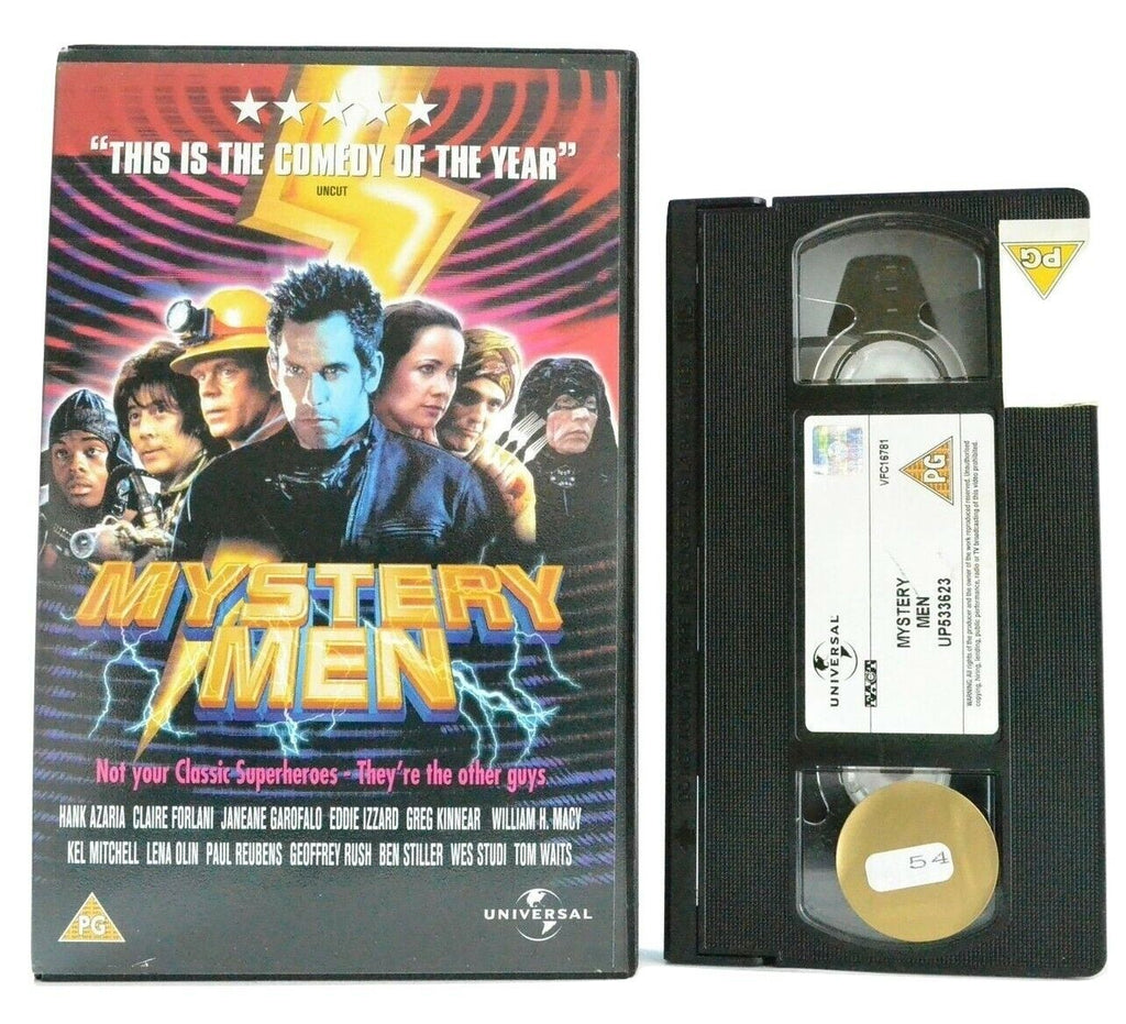 Mystery Men: Superhero Comedy Film - Large Box - Hank Azaria/Ben Stiller - VHS