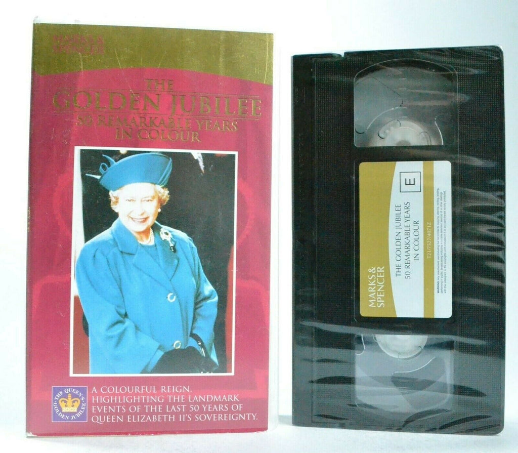 The Golden Jubilee: 50 Remarkable Years (1952-2002) - Queen Elizabeth - Pal VHS