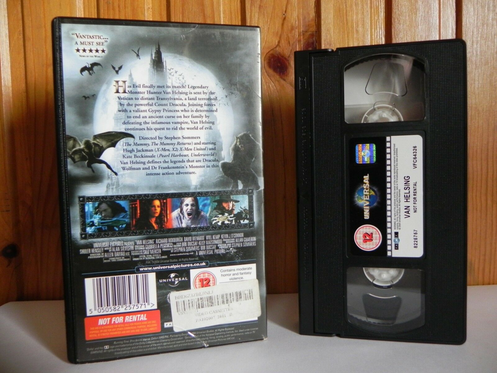 Van Helsing - Universal - Action - Adventure - Jackman - Beckinsale - Pal VHS
