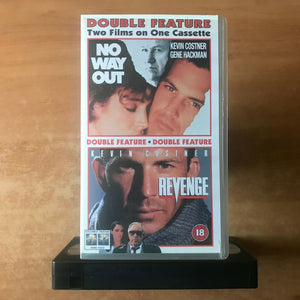 No Way Out (1987) / Revenge (1990) [Double Feature] Kevin Costner - Pal VHS