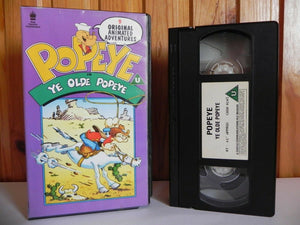 Popeye In Ye Olde Popeye - Parkfield - 9 Animated Adventures - Children's - VHS