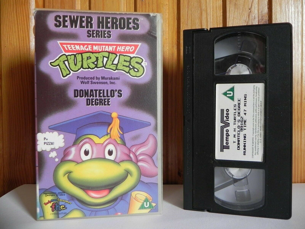Teenage Mutant Hero Turtles - Sewer Heroes Series - Donatello's Degree - Pal VHS