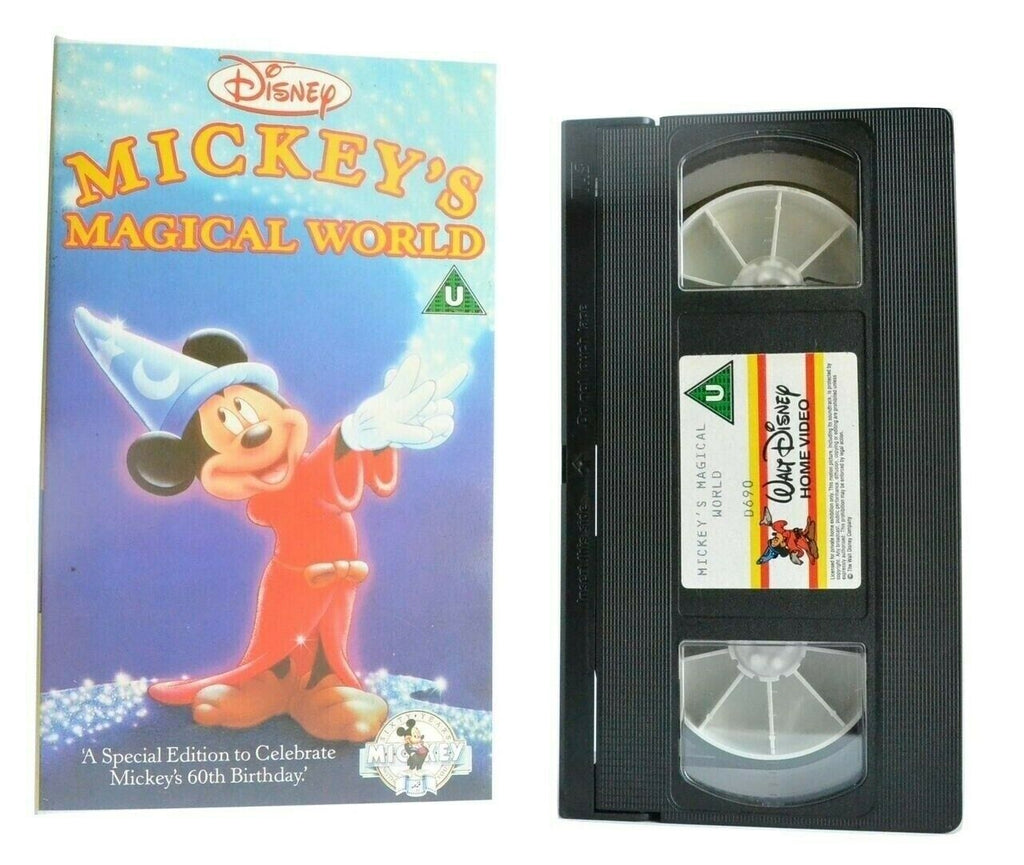 Mickey's Magical World: Mickey Mouse 60th Anniversary - Walt Disney - Kids - VHS