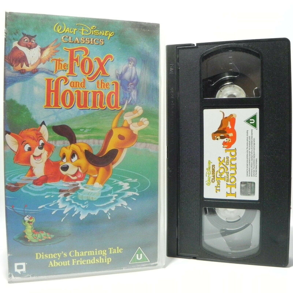 The Fox And The Hound - Walt Disney Classic - Animated - Charming Tale - Pal VHS