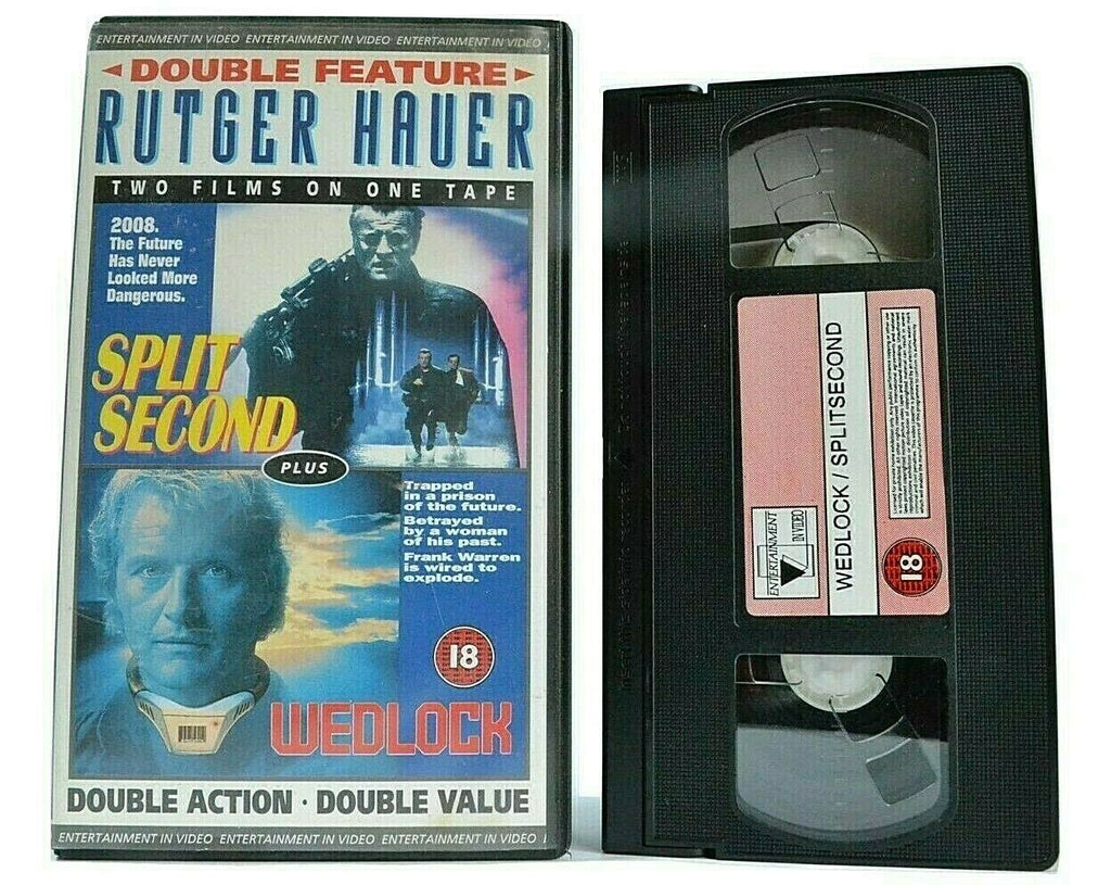 Split Second (1992) / Wedlock (1991) [Rutger Hauer Double Feature] Action - VHS