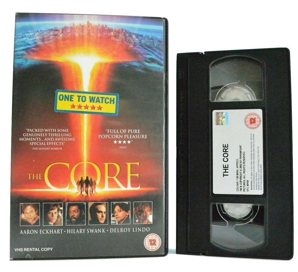 The Core: Sci-Fi Disaster Film (2003) - Large Box - A.Eckhart/H.Swank - Pal VHS