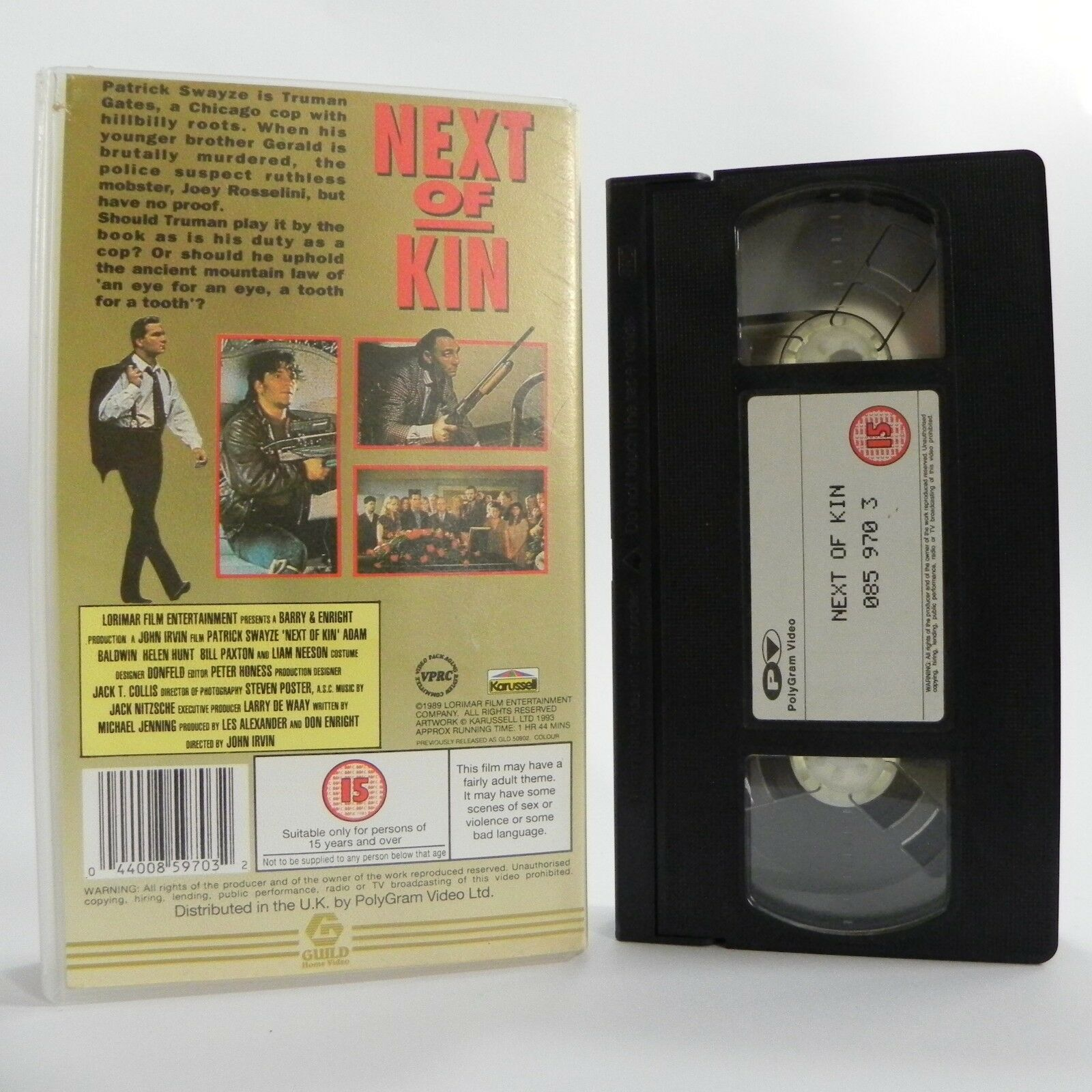 Next Of Kin: (1989) Guild Home - Action - Patrick Swayze/Helen Hunt - Pal VHS
