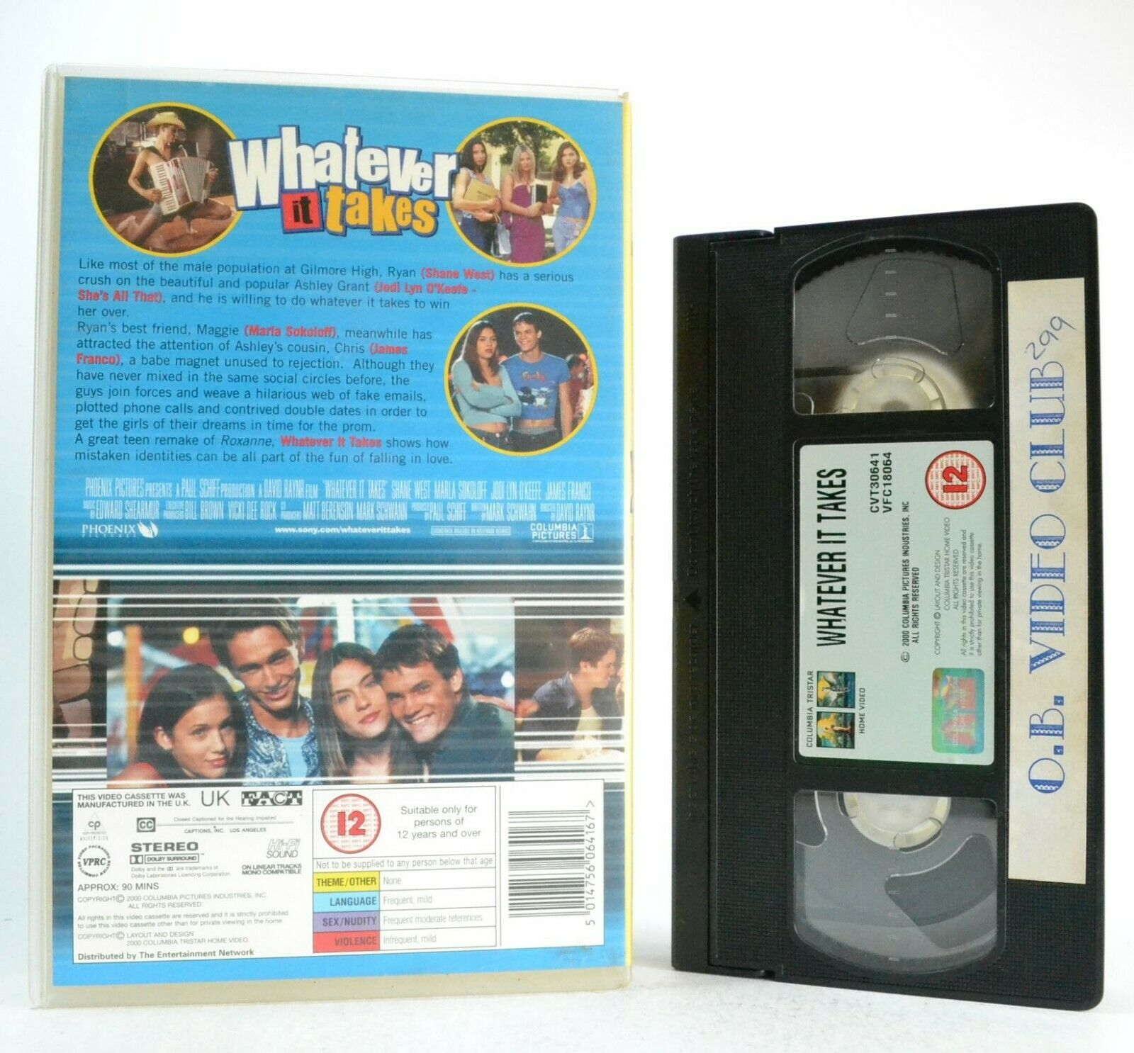 Whatever It Takes: Teen Comedy (2000) - Large Box - Ex-Rental - J.Franco - VHS
