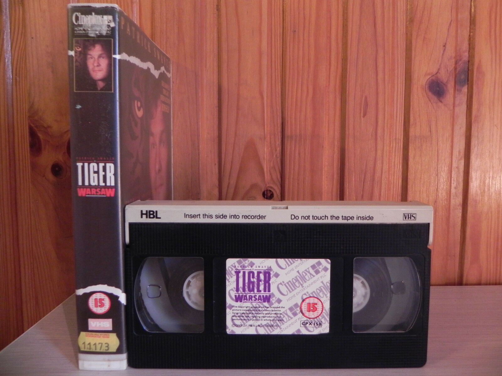 "TIGER WARSAW - Patrick Swayze - ""Rebel Without A Cause"" - Ex-Rental Video - VHS"
