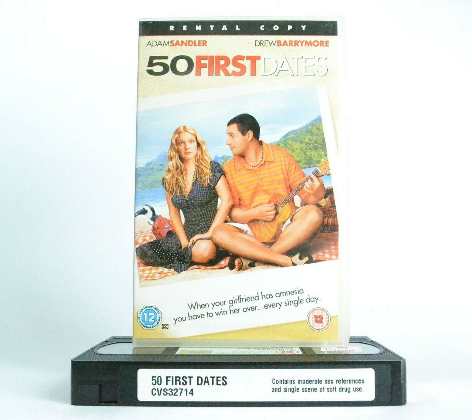 50 First Dates: A.Sandler/D.Barrymore - Romantic Comedy (2004) - Large Box - VHS