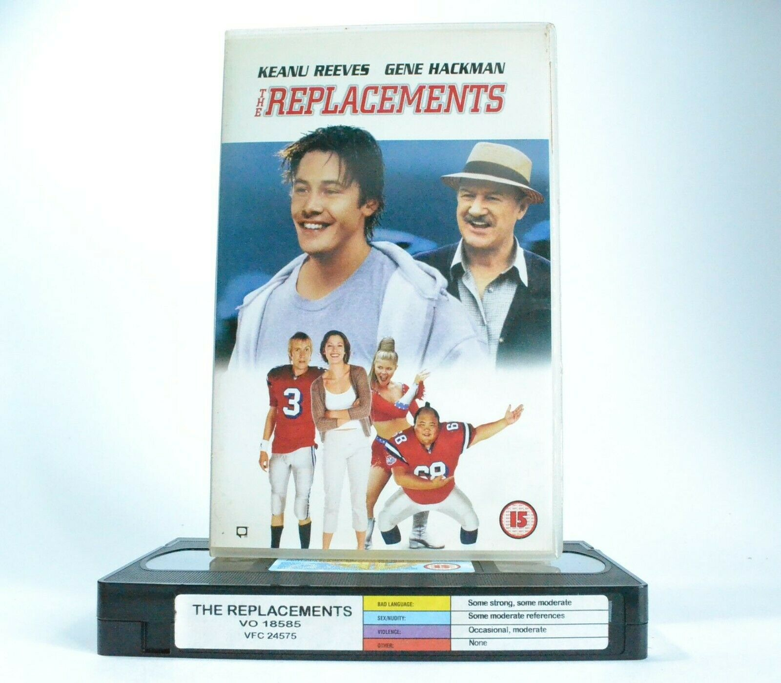 The Replacements: Sports Comedy (2000) - Large Box - K.Reeves/G.Hackman - VHS