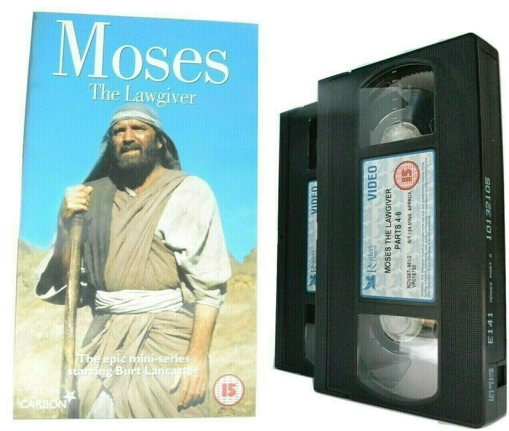 Moses: The Lawgiver - (1974) Miniseries - Bibilical Drama - Burt Lancaster - VHS