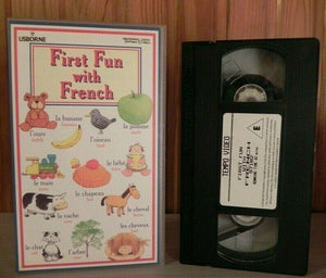 First Fun With French: Bonjour - Learning - Educational - Children's - Pal VHS