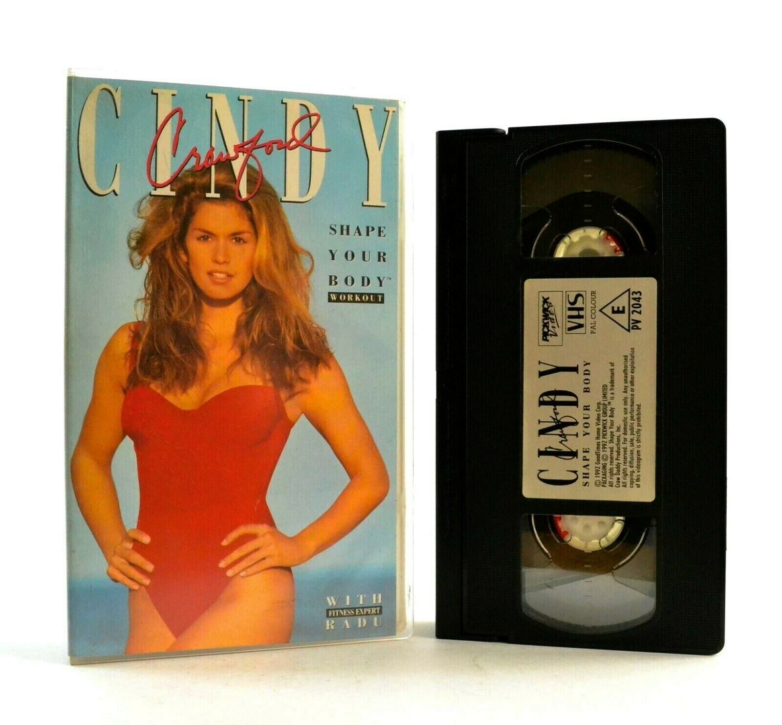 Cindy Crawford: Shape Your Body - Workout - Fitness - Exercises - Beauty - VHS