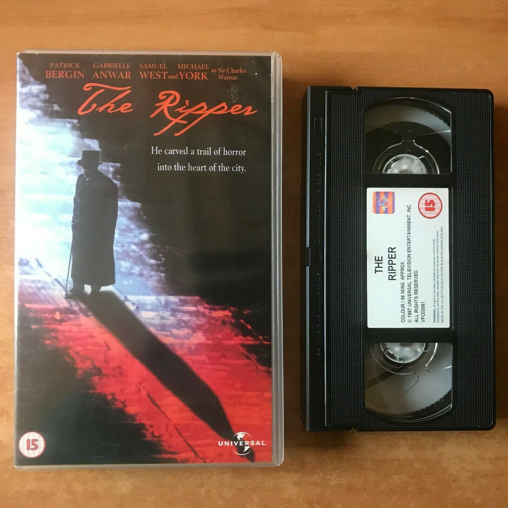 The Ripper: (1997) Made For TV - Thriller [Large Box] Michael York - Pal VHS