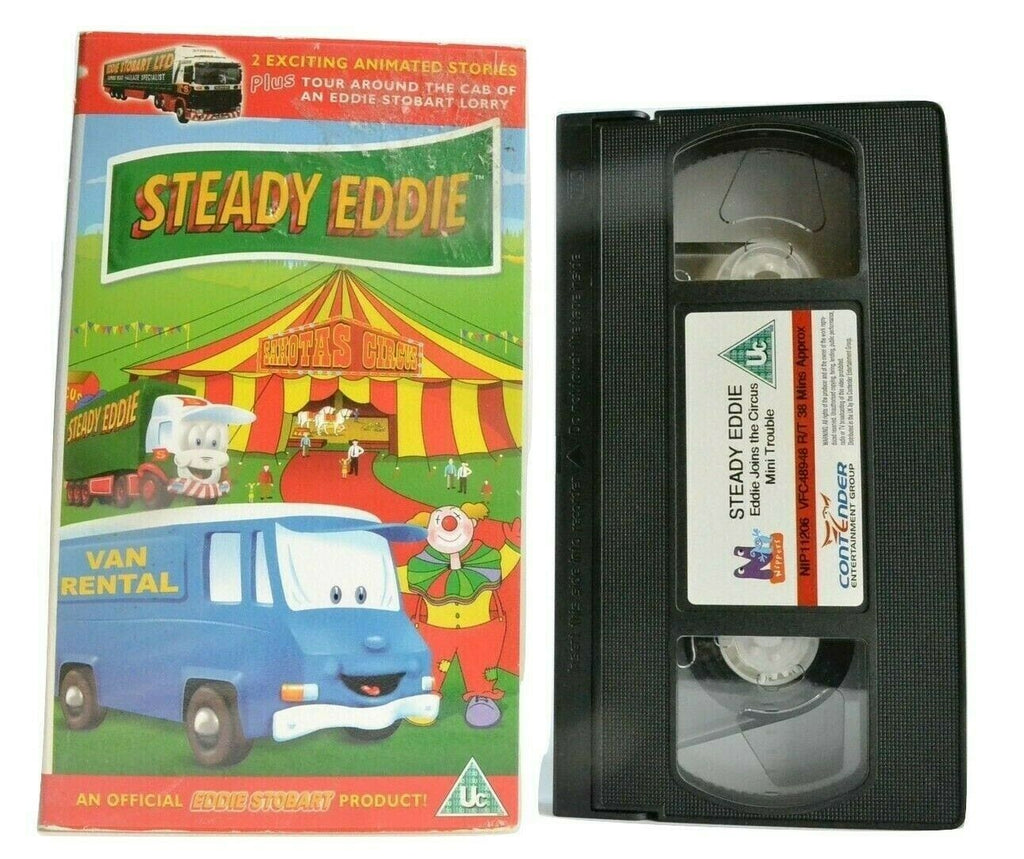 Steady Eddie: Charming Lorry; Joins The Circus / Mini Trouble - Animation - VHS