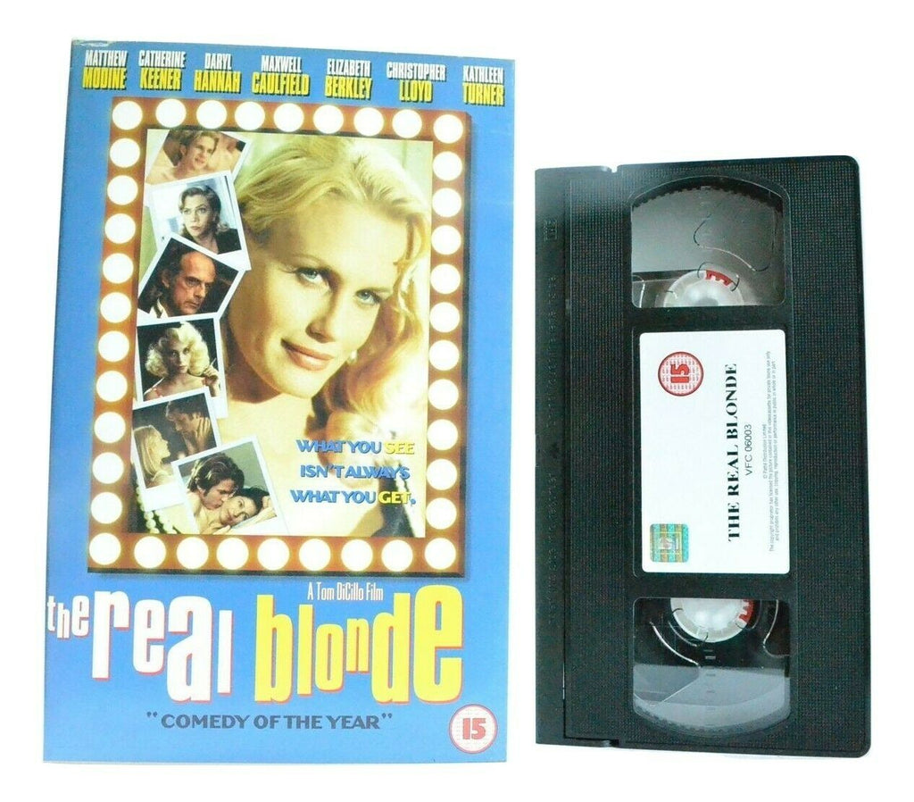 The Real Blonde - Comedy - Battle Of The Sexes - Large Box - D.Hannah - Pal VHS