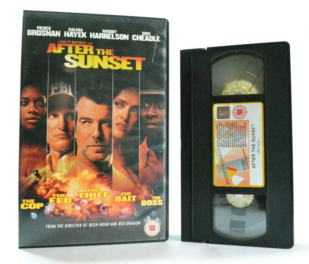 After The Sunset: A Brett Ratner Film - Action Comedy - Pierce Brosnan - Pal VHS