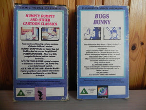 2x, Bugs, Bunny, Carton, Children's & Family, Comic, Dumpty, Humpty, PAL, Toons, U, United Kingdom, VHS, Videos