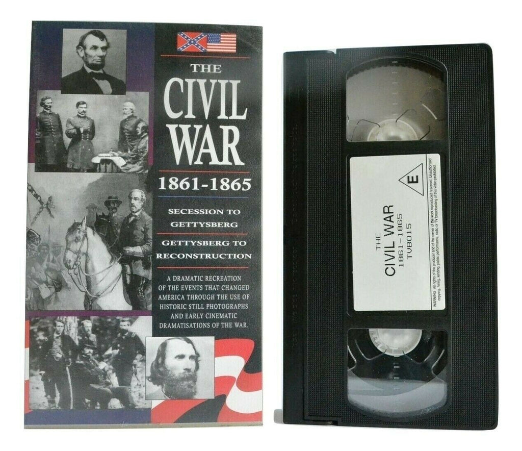 The Civil War (1861-1865) - Documentary - Gettysberg - Abraham Lincoln - Pal VHS