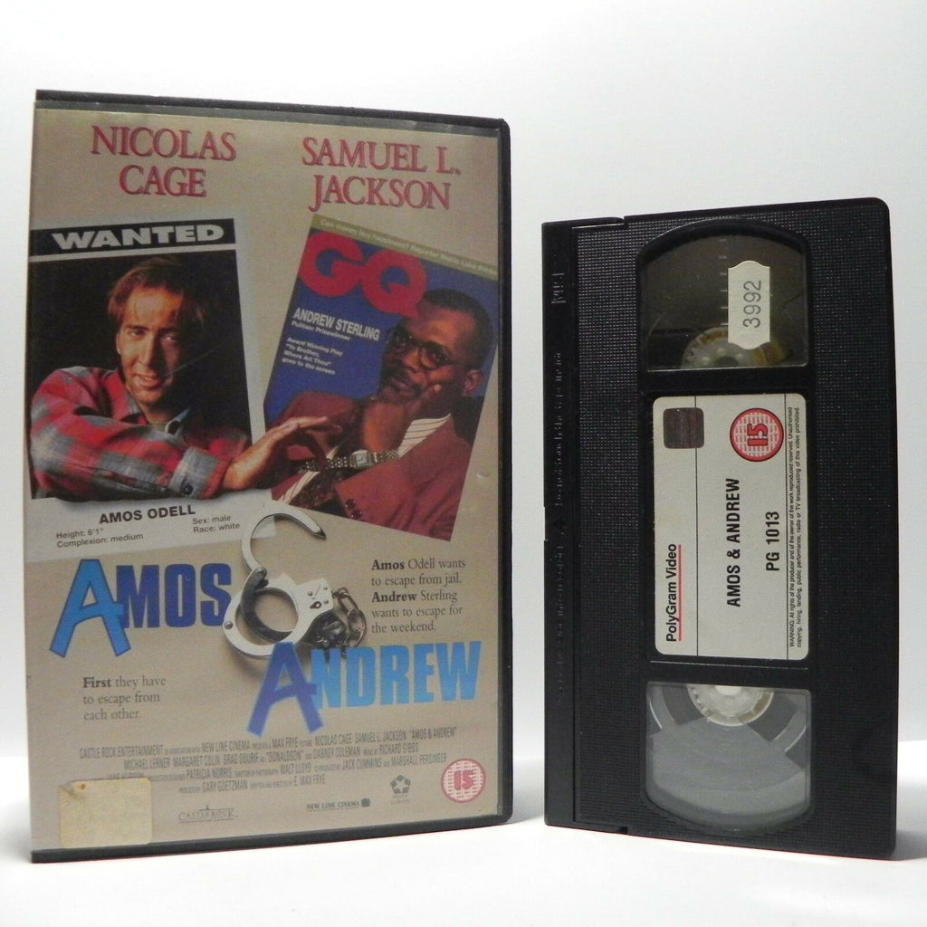 Amos And Andrew: (1993) Crime Comedy - Large Box - N.Cage/S.L.Jackson - Pal VHS