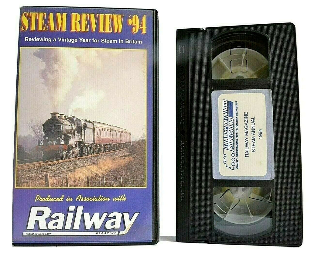 Steam Review '94 [Railway Magazine] -< Ted Parker >- Steam In Britain - Pal VHS