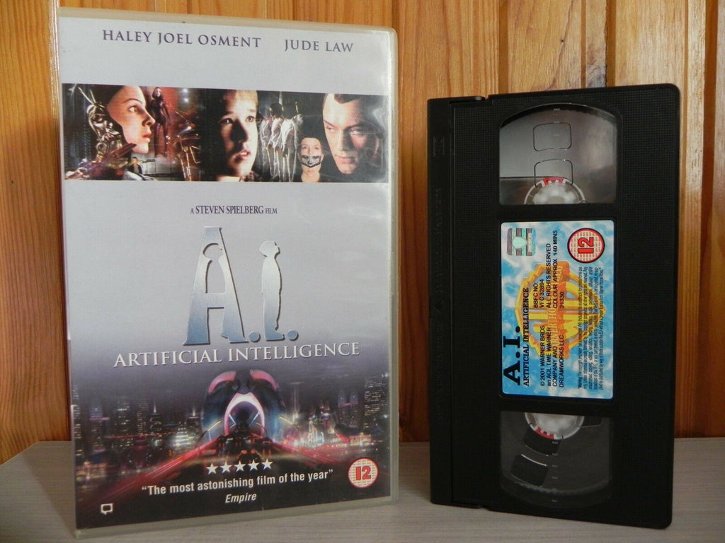 Artificial, Box, Intelligence, Jude, Jude Law, Large, Law, Sci-Fi, Sci-Fi & Fantasy, Spielberg, Steven, VHS