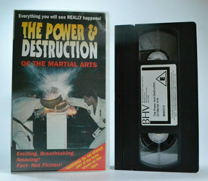 The Power And Destruction Of The Martial Arts: VMA, 1st On The Subject - VHS