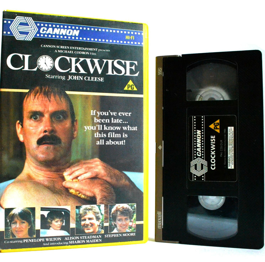 Clockwise: Cannon (1985) - Comedy - Large Box - Pre-Cert - John Cleese - Pal VHS