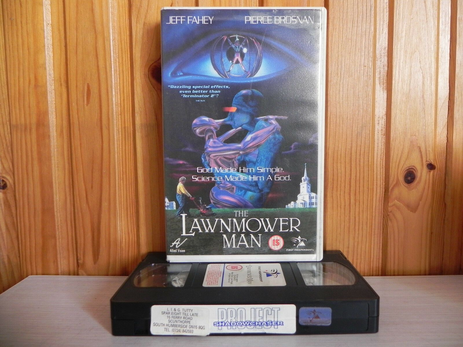 The Lawnmower Man - Stephen King Adaptation - Brosnan - Big Box Rental - Pal VHS