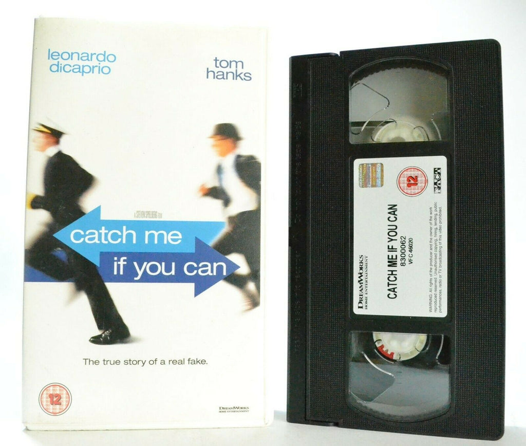 Catch Me If You Can: S.Spielberg Film - Biographical Crime Drama - T.Hanks - VHS