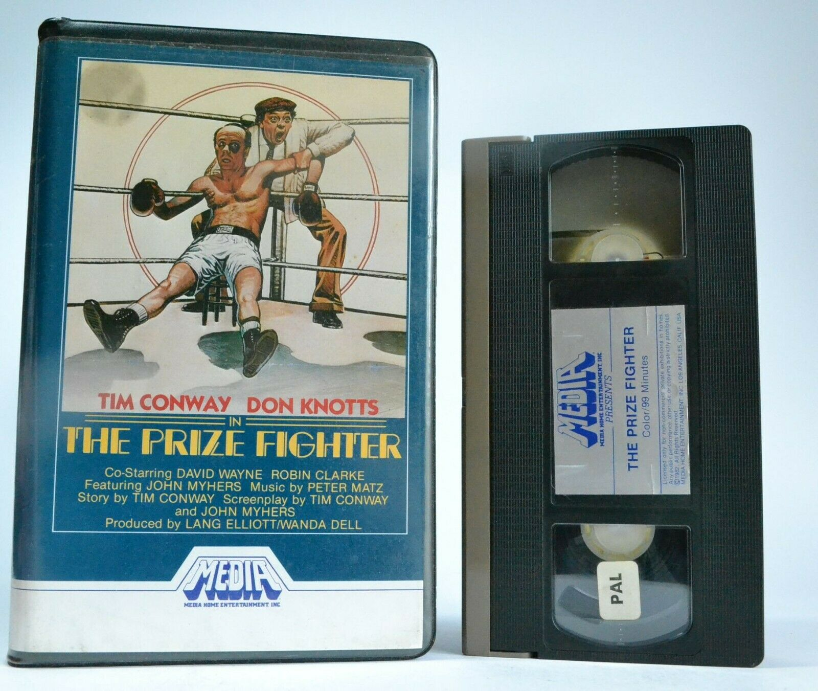 The Prize Fighter (Media) - Big Box - Pre Cert - Ex Rental - Tim Conway - VHS