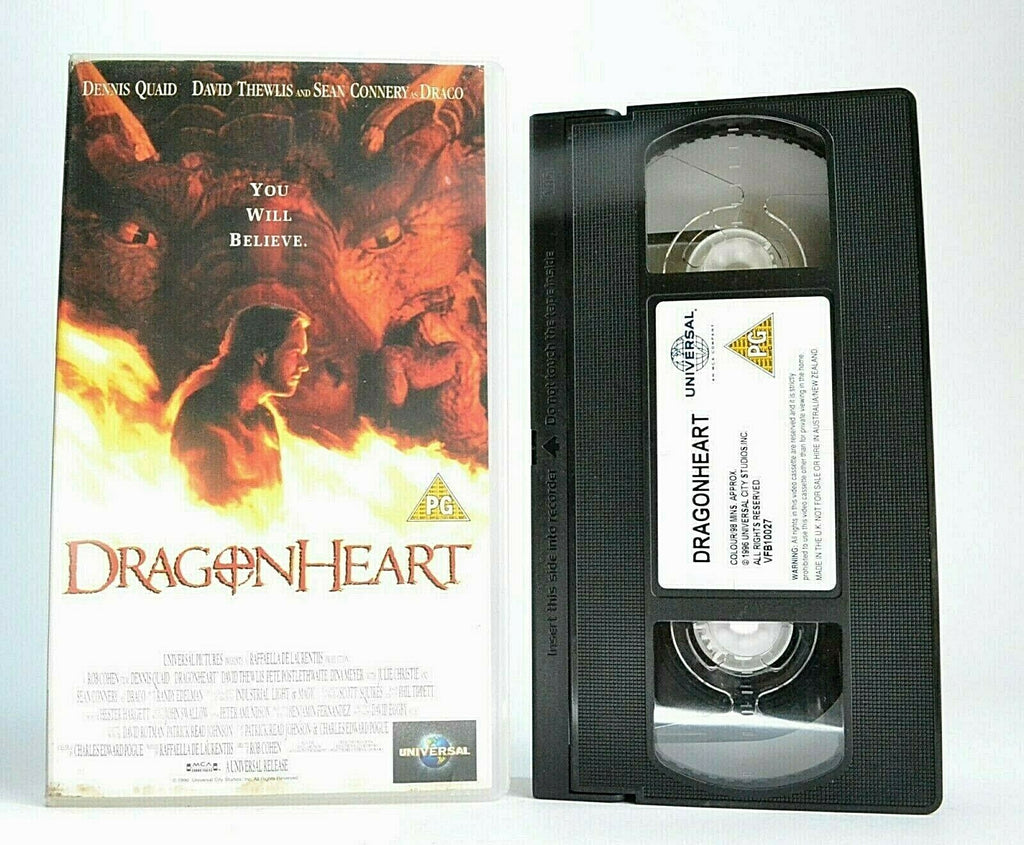 Adventure, Connery, Dennis, Dragonheart, Fantasy, Pal, VHS