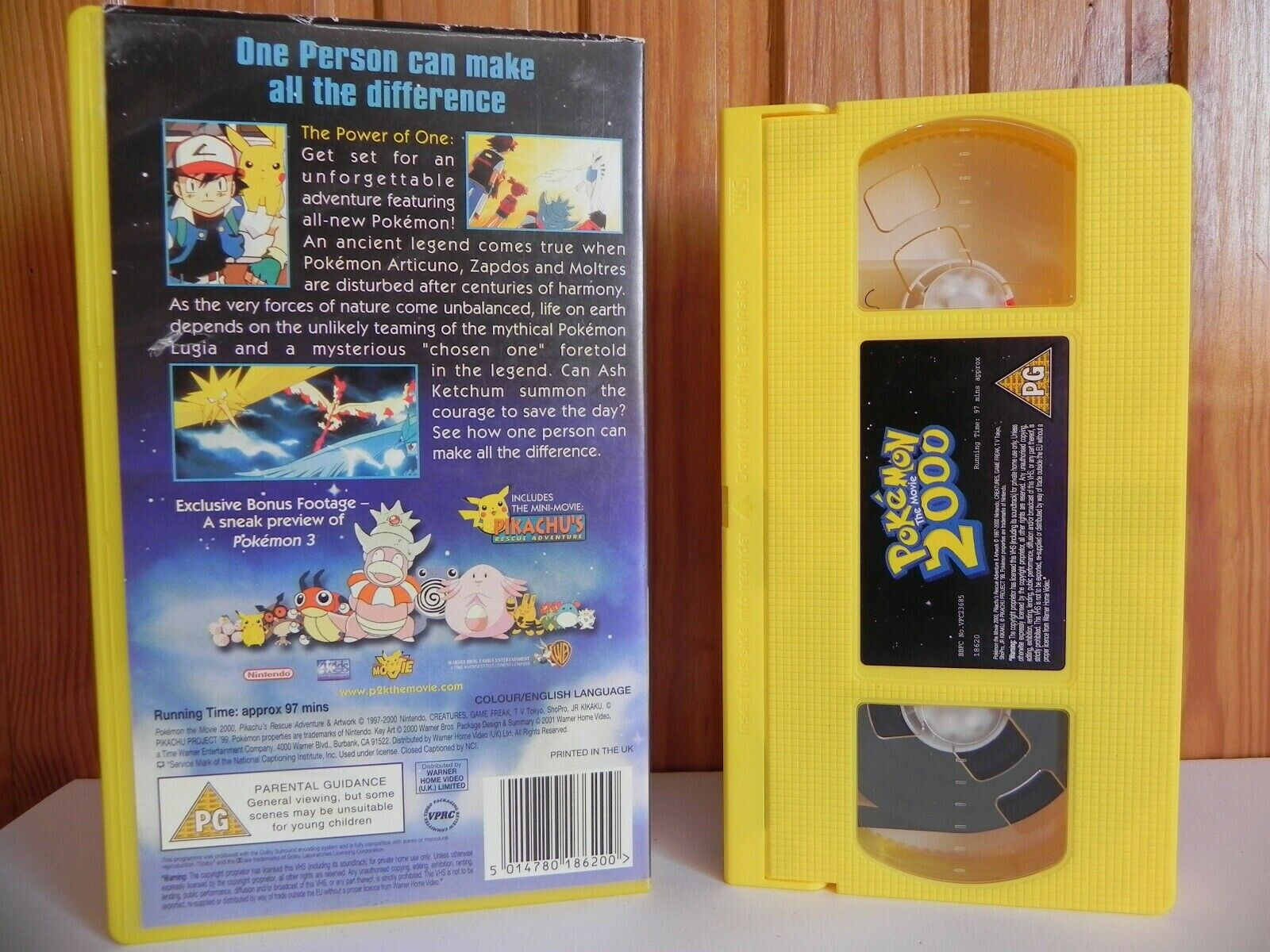 Pokemon 2000: The Movie - Warner Family - Adventure - Animated - Kids - Pal VHS
