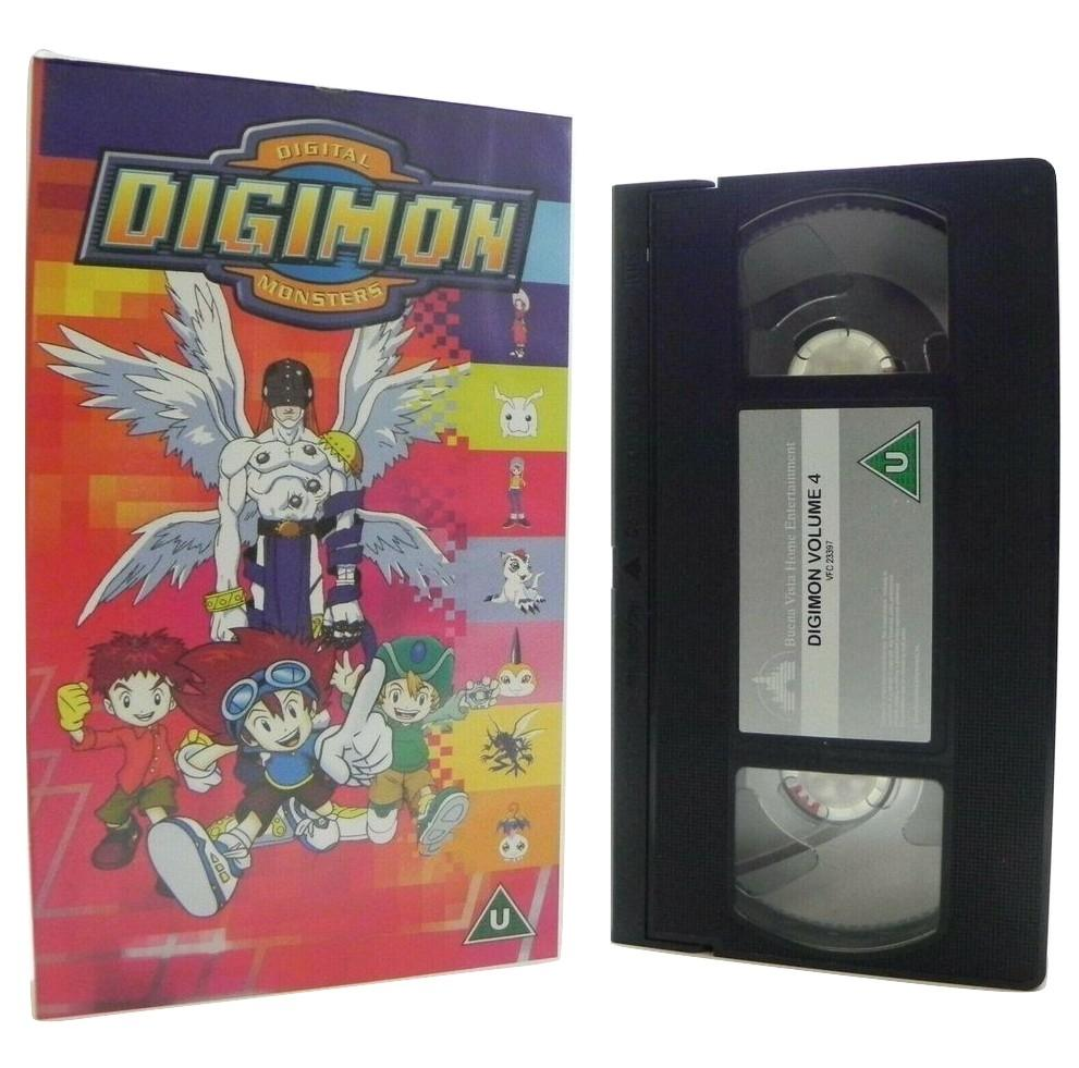 Digimon: Digital Monsters - Vol.4 - Animated - Action Adventures - Kids - VHS