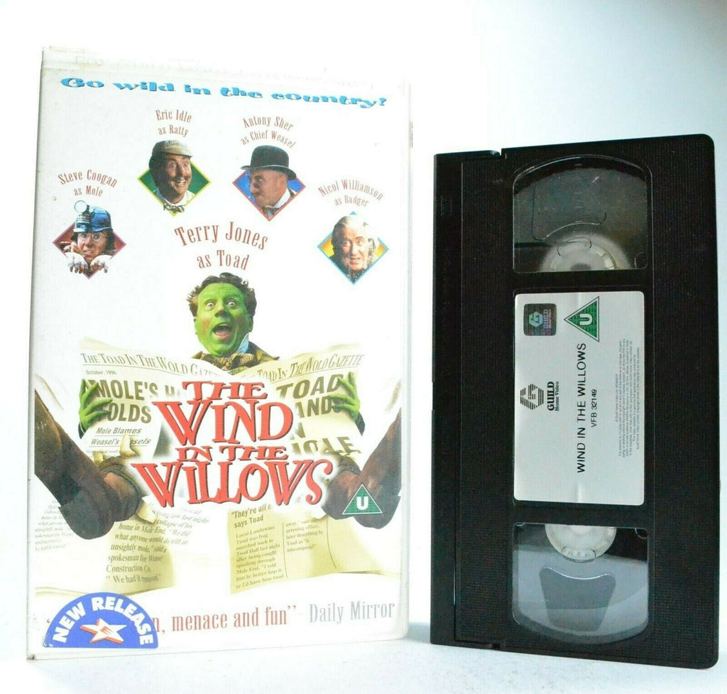 The Wind In The Willows: Film By T.Jones - Large Box - Children's - Pal VHS