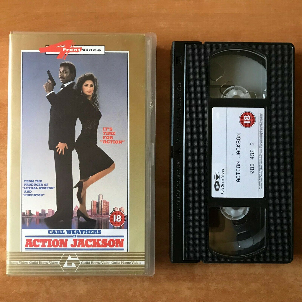 Action Jackson (1988): Detroit Action - Crime - Carl Weathers / Vanity - Pal VHS