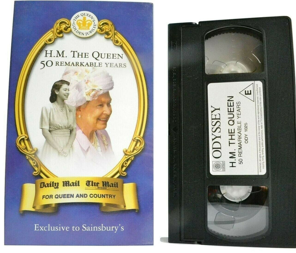 H.M. The Queen 50 Remarkable Years [Queen Elizabeth] Golden Jubille - Pal VHS
