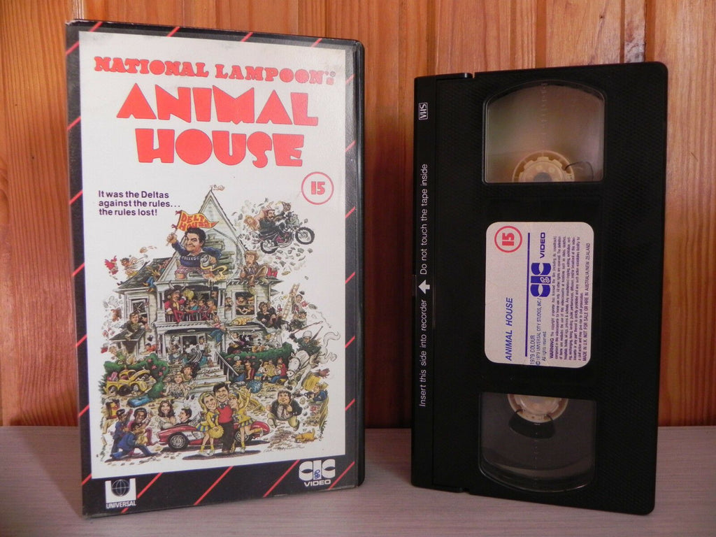 ANIMAL HOUSE - 1st CIC Release - National Lampoon - Pre-Cert - John Belushi VHS